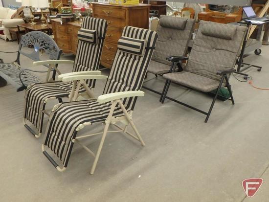 (4) Patio chairs