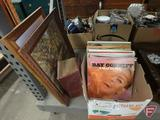 Vinyl LP albums: Red Foley, Marty Robbins, John Gary, and others; vintage library of health