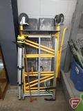 Scaffolding, portable work support, work tripod, long-bar clamps