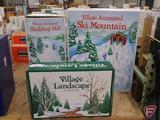 Dept 56, Ski Mountain, Sledding Hill and Village Landscape. 3 pcs