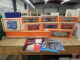 Dept 56, Lionel Electric Trains. 9 pcs + books