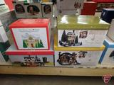 Dept 56, Dickens Village Gift Sets, Snow Village Gift Set, and Ronald McDonald House. 4 pcs