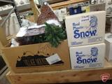 Dept 56, Accessories and Snow. 3 boxes