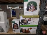 Dept 56, North Pole Series and (2) Dickens Village Gift Sets. 4 pcs