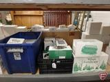 Dept 56, Accessories - Mill Creek, trees, animals. Crate and tote.