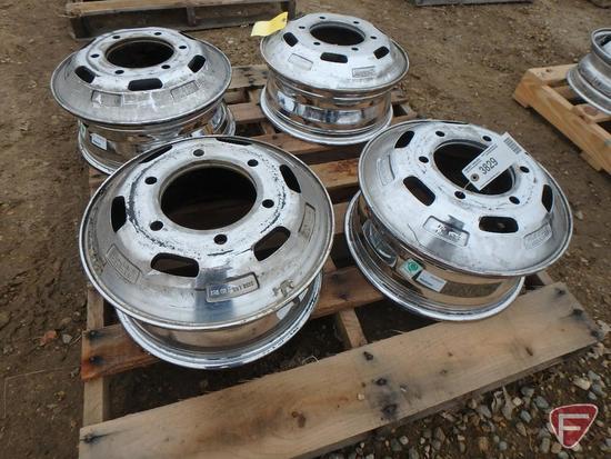 (4) Chromed 16x6 rear wheels with 6x205mm pattern