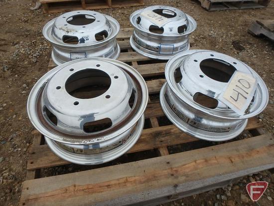 (4) Aluminum Alcoa 16x5.5 wheels with 6x205mm pattern