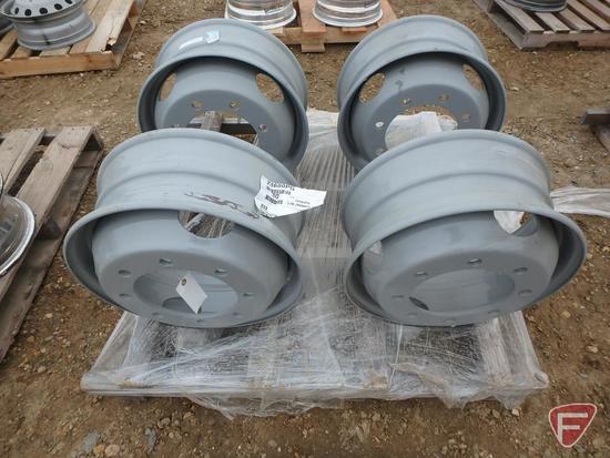(4) Steel 19.5x6.75 wheels with 8x275mm pattern