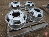 (4) Chromed 16x6 front wheels with 6x205mm pattern