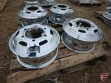 (4) Chromed 16x6 rear wheels with 6x205mm pattern