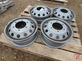 (4) Steel 16x6 wheels with 6x180mm pattern, 1 is visibly bent