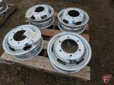 (4) Aluminum Alcoa 16x5.5 wheels with 6x205mm pattern