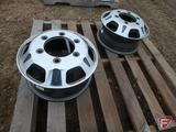 (2) Two tone 16x6 front wheels with 6x205mm pattern