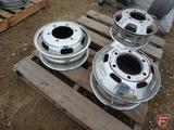 Aluminum Alcoa 16x5.5 wheel, chromed 16x6 front, chromed 16x6 rear, all have 6x205mm pattern