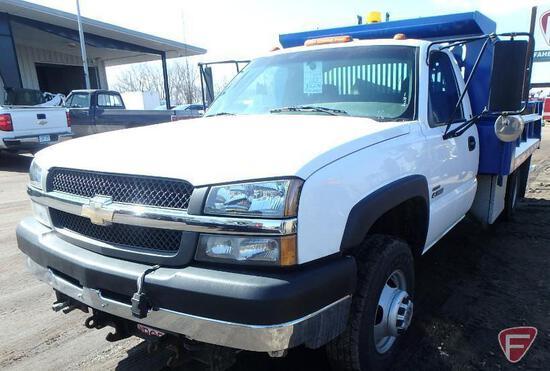 2003 Chevrolet Silverado 4x4 Dump Truck with Snow Plow