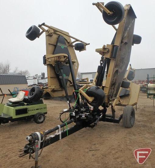 Landpride batwing AFM 2245 22' pull behind finish mower