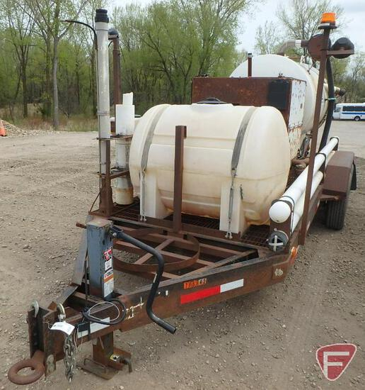 2011 Special Construction Trailer with 2001 Vaxcavator 500 Gallon Hydra Vac Trailer