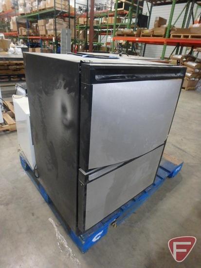 U-Line Echelon 2-drawer refrigerator with stainless, model C2175DWR