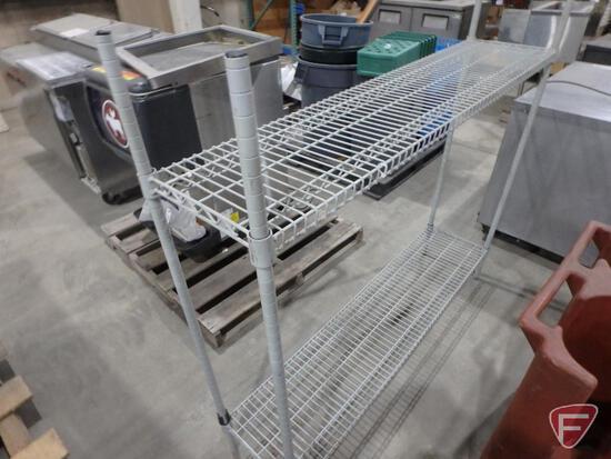 "Coated metro rack style wire shelf, 60""w x 14""d x 55""h"