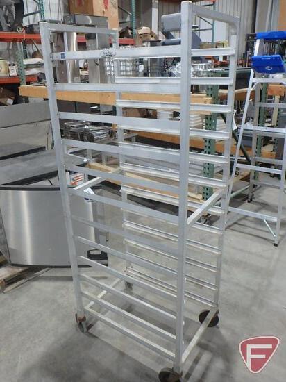 (12) slot aluminum bread rack on castors