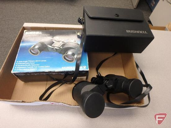Bushnell 7x35 binoculars with case and box