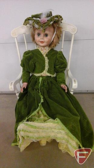 Large 3 foot doll with handmade outfit and sleepy eyes