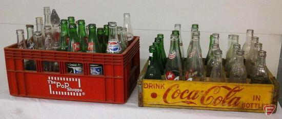 2 cases of vintage pop bottles