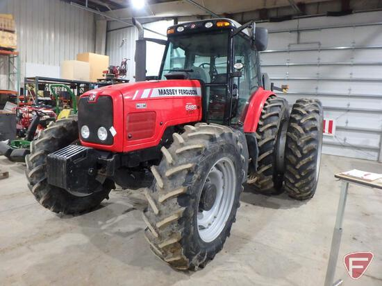 Massey Ferguson 6480 Dyna-6 diesel tractor with band duals and cab, 3317hrs, sn R291045A