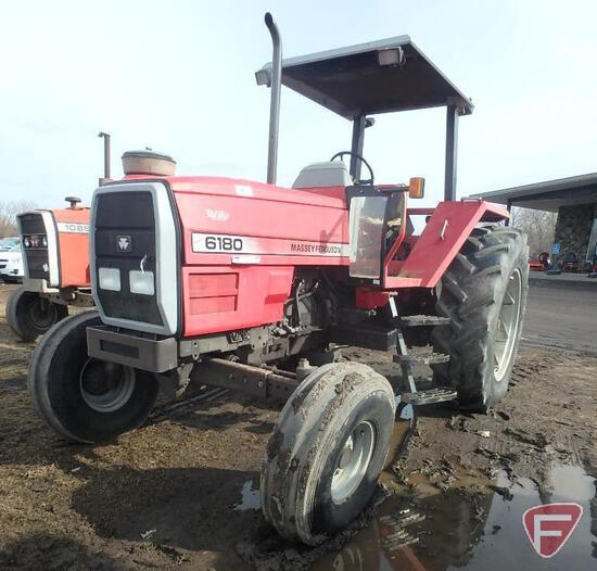 Massey Ferguson 6180 Dynashift diesel tractor with canopy, 3272hrs, sn G086011