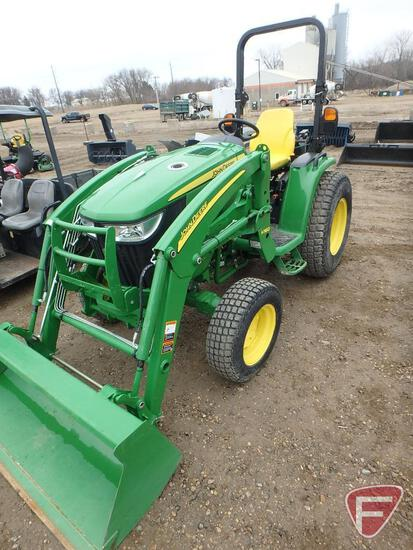 2014 John Deere 3039R 4WD tractor with H160 loader and bucket, 1189hrs