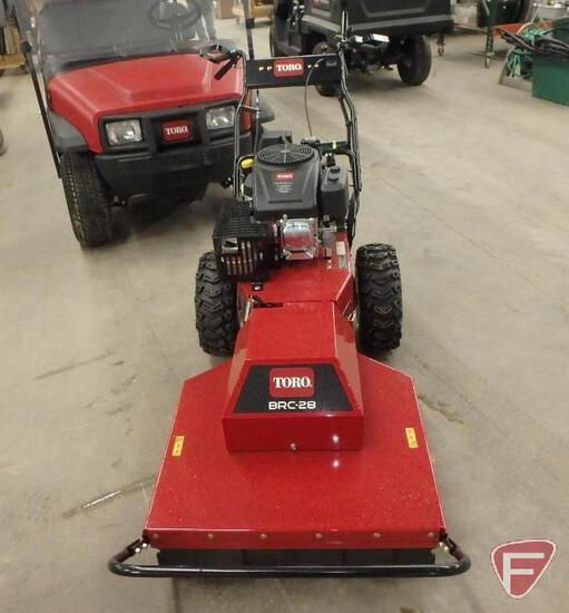 2018 Toro BRC28 self propelled brush cutter with 452cc engine, 3.1hrs
