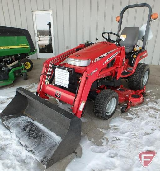 2009 Massey-Ferguson GC2300 compact tractor, 22.5 HP diesel engine, sn JRA20772, 1,920 hrs