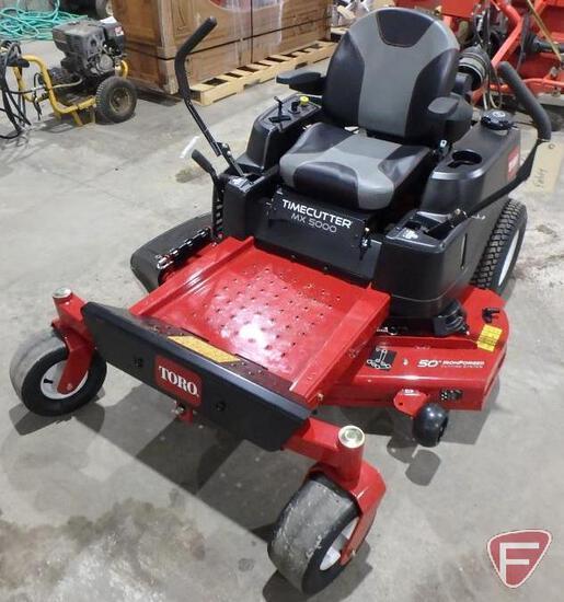"Toro Timecutter MX5000 zero turn riding mower with 50"" mid mount rotary deck"