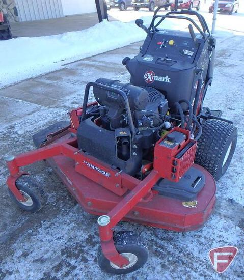 """ExMark stand-on mower with 52"""" out front rotary deck, 1000hrs"""