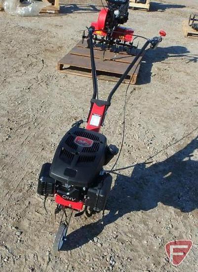"""Loncin model 360A 14"""" walk-behind power tiller, 159cc gas engine"""