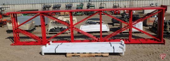 "Pallet racking: (4) 18' x 48"" uprights, (18) 7.5' beams"