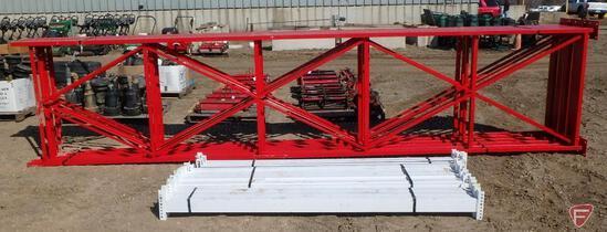 "Pallet racking: (5) 18' x 48"" uprights, (24) 7.5' beams"