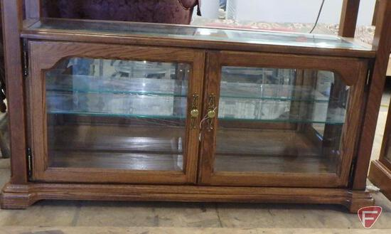 "Curio cabinet with lights, 44""w x 15""d x 30""h"