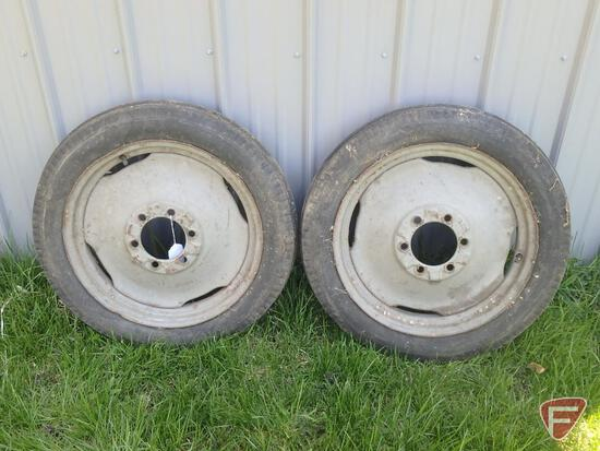 Ford tractor tires, front rims, tri rib, 4.00 x 19