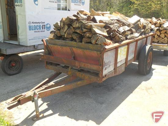 H&S spreader made into trailer full of wood