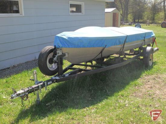Richline Aluminum 14 ft boat with trailer and Elgin motor