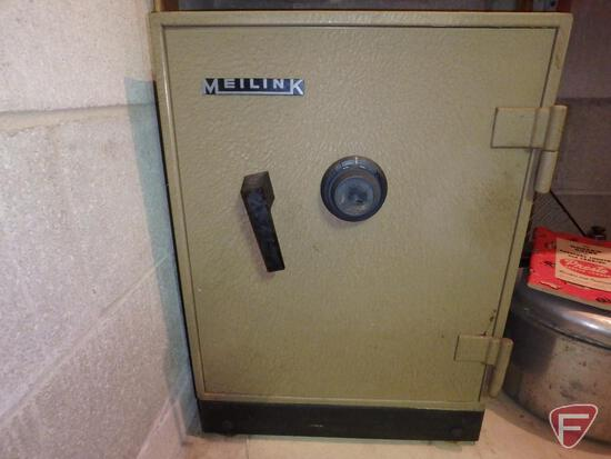 "Meilink safe with combination and keys, 18""W x 17""D x 24""H"