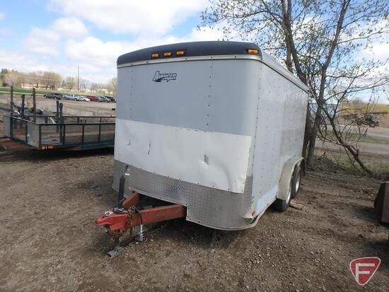"1998 Avenger Tandem Axle Enclosed Trailer, Expanded Metal Ramp, (4) D-Ring Tie Downs, 147"" x 82"""