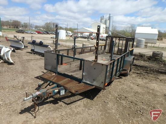 "1994 Semo Tandem Axle Landscaping Trailer with Gorilla Lift Ramp Lifter, 218"" x 75"""