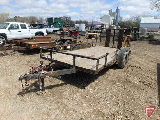 "2001 Metl Tandem Axle Landscaping Trailer with Gorilla Lift Ramp Lifter, 191"" x 80"""