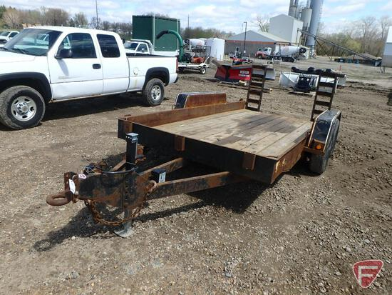 "1999 Felling Tandem Axle Equipment Trailer with Fold-Down Ramps, 167"" x 78"""