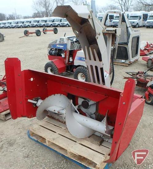 "Snowblower attachment KX522, 52"" dual stage, hydraulic turn spout (fits Ventrac Lot 1632)"