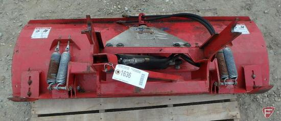 """Front blade attachment KD660, hydraulic angle spring trip, 60"""" W, 20"""" H (fits Ventrac Lot 1632)"""