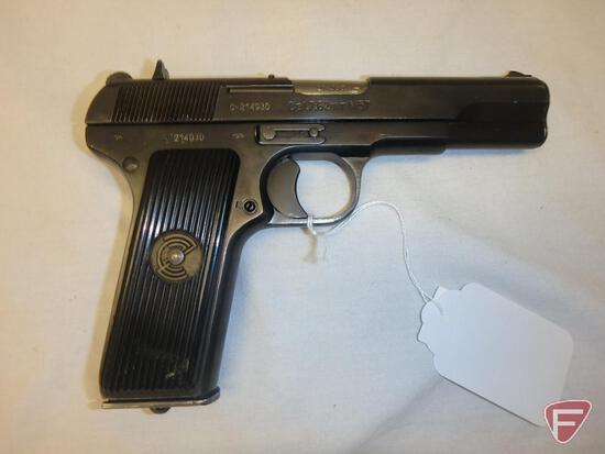Yugo Zastava M57 7.62x25mm semi-automatic pistol