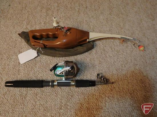 """Ron Popeil's Pocket Fisherman, 5'6"""" telescoping spinning rod with closed-face spinning reel"""